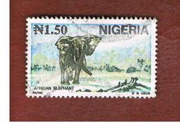 NIGERIA  -  SG 652   -  1993   ANIMALS: AFRICAN ELEPHANT           -  USED * - Nigeria (1961-...)