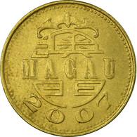 Monnaie, Macau, 10 Avos, 2007, British Royal Mint, TTB, Laiton, KM:70 - Macao