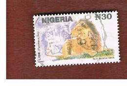 NIGERIA  -  SG 655   -  1993  ANIMALS: LION        -  USED * - Nigeria (1961-...)