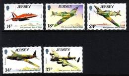 JERSEY MI-NR. 524-528 ** FLUGZEUGE 1990 JAGDFLUGZEUG BOMBER - Jersey