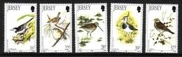 JERSEY MI-NR. 563-567 ** VÖGEL 1992 KIEBITZ DROSSEL BACHSTELZE - Jersey