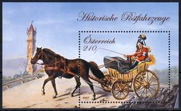 Österreich MiNr. Bl. 96 ** Histrische Postfahrzeuge - 1945-.... 2. Republik