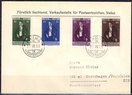 Liechtenstein MiNr. 348/51 Auf FDC Fürst Franz Josef II. - Liechtenstein