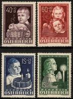 """Österreich MiNr. 929/32 ** Kinderfürsorge """"Glükliche Kindheit"""" - 1945-60 Ungebraucht"""