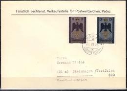 Liechtenstein MiNr. 346/47 Auf FDC Souveränes Fürstentum - Liechtenstein