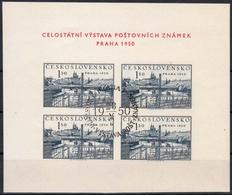Tschechoslowakei MiNr. Bl. 12 O Briefmarkenausstellung Prag - Ungebraucht