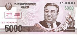 North Korea - Pick 66s - 5000 Won 2002 - 2009 - Unc - Specimen - Korea (Nord-)