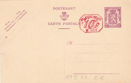 Entier  Postal Stationery N° 119  40c Lilas Sur Crème   -  II ( NF) - M3 10c B001 (1941) - Entiers Postaux
