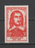 """FRANCE / 1956 / Y&T N° 1068 ** : """"Célébrités"""" (Samuel De Champlain) X 1 - Unused Stamps"""