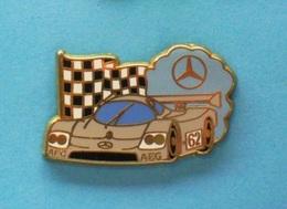 1 PIN'S //   ** SAUBER MERCEDES C9 / 1989  / AEG / N° 62 ** . (Arthus Bertrand Paris) - Mercedes