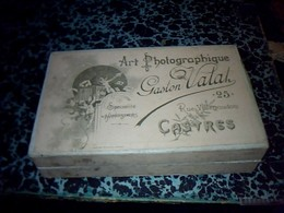 Ancienne Boite Carton. Art Photographique Gaston VA LIAT à Castres  81 - Boîtes