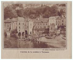 1933 - Iconographie - Terrasson-Lavilledieu (Dordogne) - Les Canoës De La Croisière De Juin - FRANCO DE PORT - Old Paper