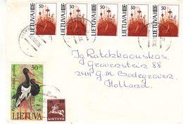 Lituanie - Lettre De 1992 - Oblit Zarazai - échassiers - Cygognes - Lituania