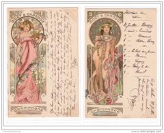 """MUCHA Alfons : Série Complète De 10 Cartes Postales Publicitaires Pour Les Champagne """"""""""""""""Moët Et Chandon"""""""""""""""" Bon Etat (é - Mucha, Alphonse"""
