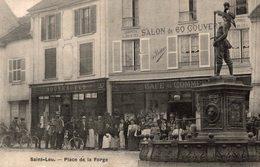 SAINT LEU PLACE DE LA FORGE CARTE ANIMEE - Saint Leu La Foret