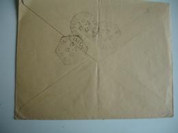 Varenne Sur Allier Recette Auxiliaire Cachet Hexagonal Obliteration Sur Lettre - Marcophilie (Lettres)