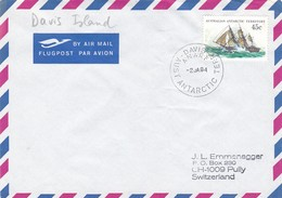 1983 AUSTRALIAN ANTRTIIC TERRITORY DAVIS ISLAND  CANCELLATION COVER ANTARYTICA. WITH ONE FOLD OF COVER - Events & Commemorations