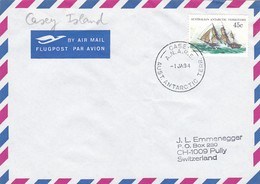 1983 AUSTRALIAN ANTRTIIC TERRITORY CASEY ISLAND  CANCELLATION COVER ANTARYTICA. WITH ONE FOLD OF COVER - Events & Commemorations