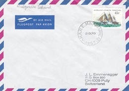 1983 AUSTRALIAN ANTRTIIC TERRITORY MACQUARIE ISLAND  CANCELLATION COVER ANTARYTICA. WITH ONE FOLD OF COVER - Events & Commemorations
