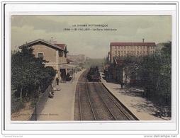 St-VALLIER : La Gare Intérieur (GARE) (toillée) - Tres Bon Etat - France