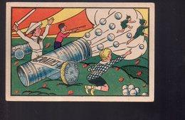 REF 406 : Image Chromo Grains De Vals Enfant Guerre Canon - Publicités