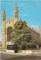 Cartolina Chiese- KING'S COLLEGE CHAPEL-CAMBRIDGE - Chiese E Conventi