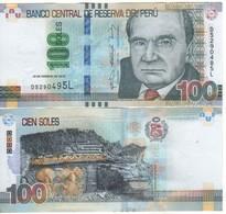 PERU   (error Note) 100 Soles (Mismatched Serial Nr.  .....495L & 485L ) 19.2.2015 Pnew UNC - Peru