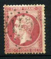 FRANCE ( POSTE ) : Y&T N° 24 TIMBRE  BIEN  OBLITERE , A VOIR . - 1862 Napoléon III