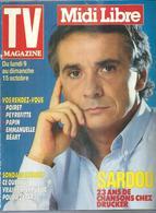 """TV MAGAZINE  N° 16102  """" MICHEL SARDOU  """" -    OCTOBRE  1989 - Fernsehen"""