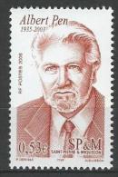 """SPM YT 862 """" Alain Pen """" 2006 Neuf** - St.Pierre Et Miquelon"""