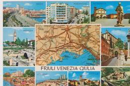Cartolina Carte Geografiche-friuli Venezia Giulia - Landkarten