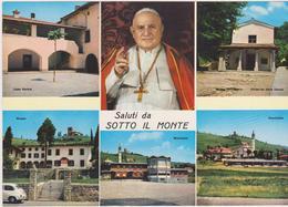 Cartolina PAPI-PAPA GIOVANNI XXIII-sotto Il Monte Formato Gigante 21x14,6 - Papi
