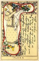 Wiener Werkstätte 913 Flora Sign. Löffler, B. 1914 I-II - Wiener Werkstätten