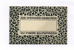 Wiener Werkstätte Ballkarte Sie Werden Gebeten ... Zu Tisch Zu Führen I- - Wiener Werkstätten