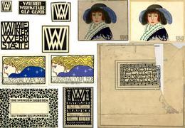 Wiener Werkstätte Kleines Konvolut Mit 12 Teilen U.a. Tischkarten, Vignetten I-II - Wiener Werkstätten