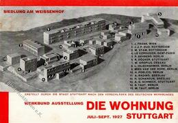 Deutscher Werkbund Stuttgart (7000) Ausstellung Die Wohnung Weissenhofsiedlung  I-II Expo - Künstlerkarten