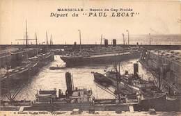 BATEAU- DEPART DU PAUL LECAT - MARSEILLE BASSIN DU CAP PINEDE - Steamers