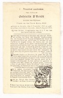 DP Gabriella D'Hondt / Bils * 16j. * ° Aarsele Tielt 1912 † Sijsele 1929 - Images Religieuses