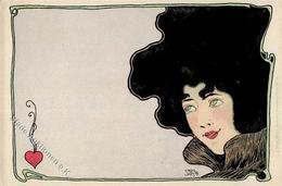 Jozsa, Carl Jugendstil Frau  Künstlerkarte I-II Art Nouveau - Ohne Zuordnung