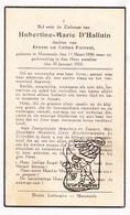 DP Hubertine M. D'Halluin / Forrest ° Moorsele Wevelgem 1886 † 1935 - Images Religieuses