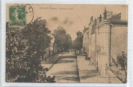 23 - Creuse - Gueret - Carte Peu Courante : Route De Paris ( Etat ) - Guéret