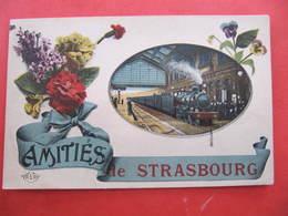 CPA - AMITIES DE STRASBOURG - TRAIN - Strasbourg