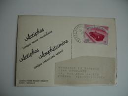 Laboratoire Roger Bellon Neuilly Seine Medicament Carte Timbre 12 Lire San Marin San Marino - Storia Postale