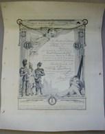 MilDoc. 3. Certificat Du Grand Concours De 1908, Tireur De 1er Classe Pour Meur Wallon De Châtelineau - Documents
