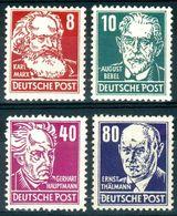 DDR Lot Mit 4 Werten Köpfe II - Mi.-Nr.329,330,336, 339 ** ; Feinst/pracht - [6] Oost-Duitsland