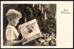 C7311 - Glückwunschkarte Weihnachten - Kleiner Junge Tannebaum Kerzen - Achelstädt Arnstadt - Natale