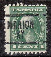 USA Precancel Vorausentwertung Preo, Locals Kentucky, Marion 1914-204 - Vereinigte Staaten