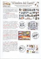 Vignola, 2013, Fulvio Mezzanotte, Al'àmbra Dal Castèl, Notiziario Di Carto Marcofilatelia, 4 Pp., Cm. 21 X 30. - Libri, Riviste, Fumetti