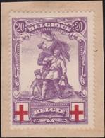 Belgie  .   OBP   .    128     .   (*)    .   Geen Gom    .   /  .     Pas De Gomme - 1914-1915 Croix-Rouge