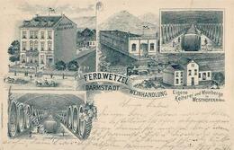 Wein Darmstadt (6100) Weinhandlung Ferd. Wetzel 1900 I-II Vigne - Ausstellungen